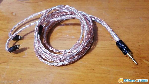 超粗芯800芯 7N單晶銅+銅鍍銀線 耳機線 升級線 fender campfire westone Shure SENNHEISER