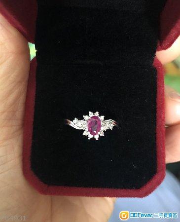 謝瑞麟18k紅寶石鑽石戒指