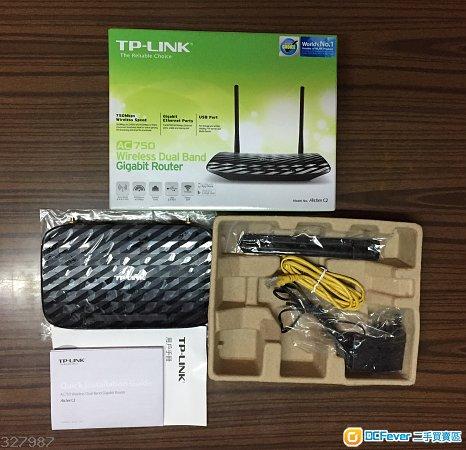 99%新 TP-Link AC750 雙頻無線路由器 (Archer C2)