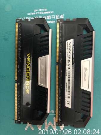 二手 CORSAIR CMY16GX3M2A2133C11 8GBx2 DDR3 2133 CL11 LONGDIMM RAM