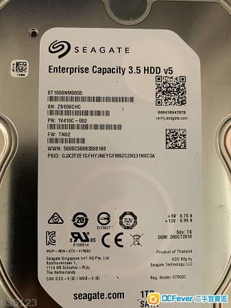 seagate st1000nm0055  1T  3.5吋 企業級
