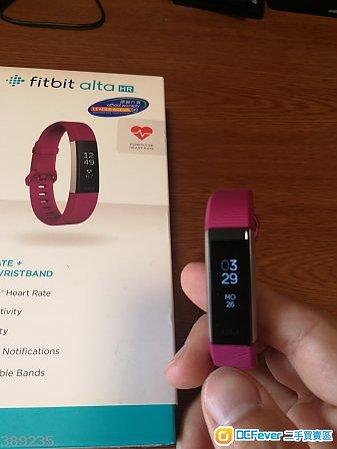 90%新 Fitbit Alta HR PURLE S Size 行貨