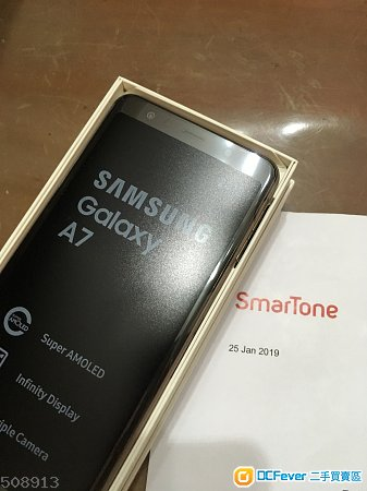 放99%新Samsung A7(2018)金 Smartone單Full Set