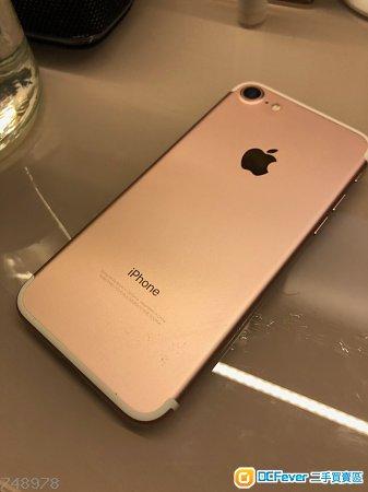 Iphone 7 128gb Rose Gold 8成半新機,原裝港行連叉頭usb線