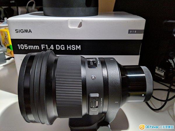 出售 98% New Sigma 105 f/1.4 大光圈 Sony E Mount 行貨 保養到21年