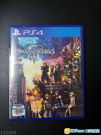 99% NEW PS4 Kingdom Hearts III 王國之心 日文 港版
