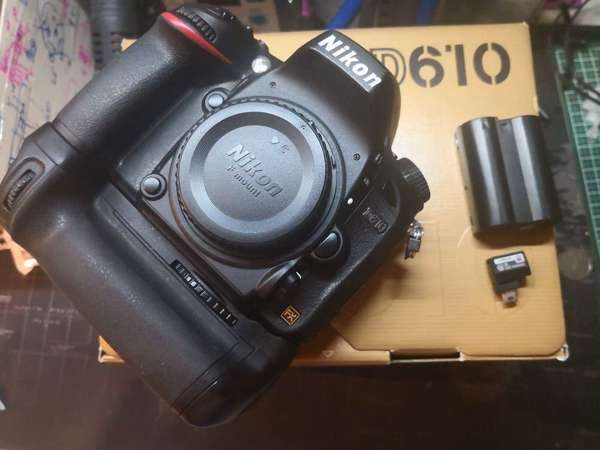 Nikon D610 連原裝直倒加一副電/Wifi adaptor