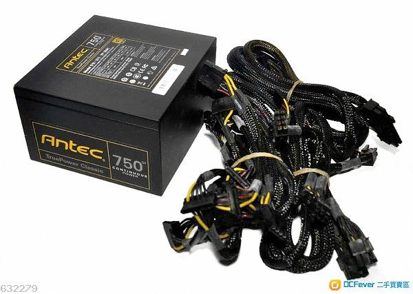 9成新Antec TP750C 750W 80+<GOLD> 靚仔無花無塵火牛一隻<無盒>包試