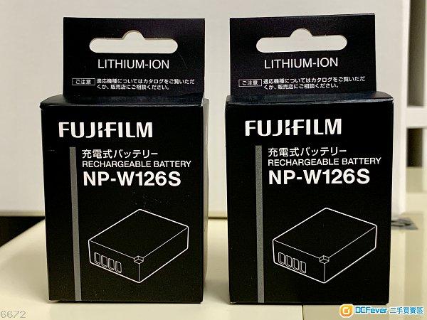 Fujifilm NPW126s battery x 2
