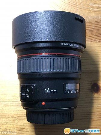 永諾yongnuo 14mm f/2.8 Canon版本