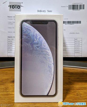 全新未開封 iPhone XR 128GB *1010*續約機**白**色