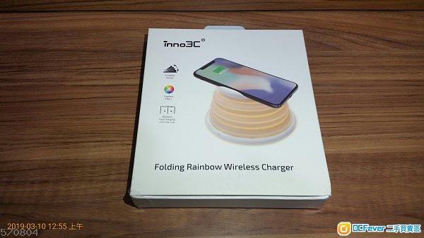■全新 inno3c 摺疊式彩虹無線充電座,folding  wireless charger , 支援 iOS 及 Android 系統