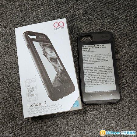 99%新 Oaxis Inkcase i7 iPhone 8 通用 E Ink 電子墨水屏幕 電子書 保護殼 再送 Inkcase IVY