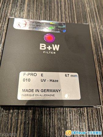 B+W F-PRO 67mm E 010 UV Haze