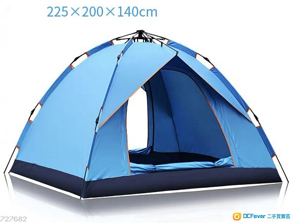 彈簧液壓式速開戶外帳篷 (可容納3-4人)