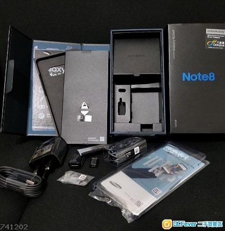 全新Samsung Galaxy Note 8 港行跟機配件 Charger AKG耳機 機套 機貼 全面保護