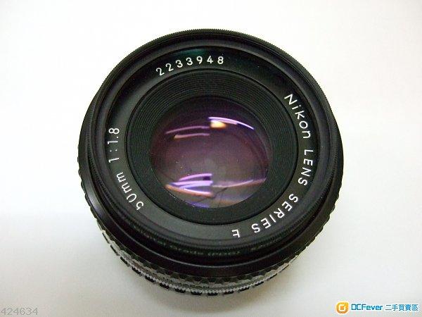 Nikon MF 50mm F1.8 Series E (0.6m最近對焦) 90% New