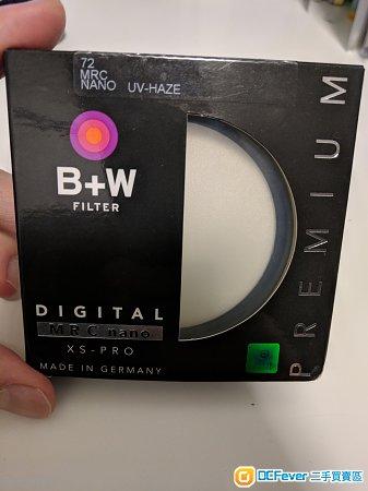 B+W XS-Pro UV MRC nano 72mm