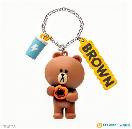 (全新)Line friends Brown 熊大Octopus八達通吊飾 [not cony 兔兔 choco]