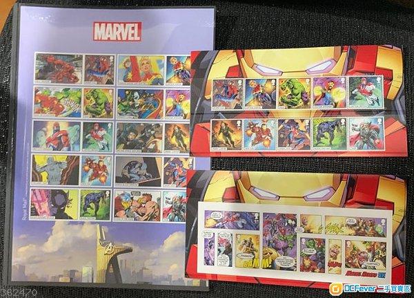 全新 Royal Mail Marvel Collector Stamp 漫威紀念郵票套裝一套三款