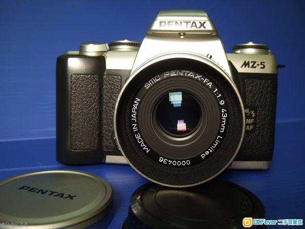 SMC Pentax-FA 43mm F1.9 Limited + Pentax MZ-5 Body 95 New