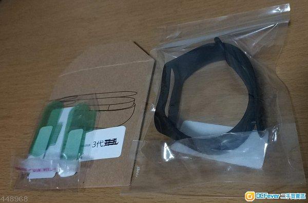*包郵*小米手環3 保護貼 貼膜 6片裝(開孔版*3/無開孔版*3)  +小米手環3手帶(黑色非原裝)