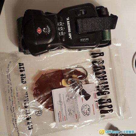 出售100% 全新A Bathing Ape限量版迷彩電子磅行李帶行李鎖 AAPE IT Apple