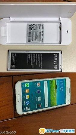 90% 新~SAMSUNG S5 白色  3GB/32GB + 充電盒+多1舊電