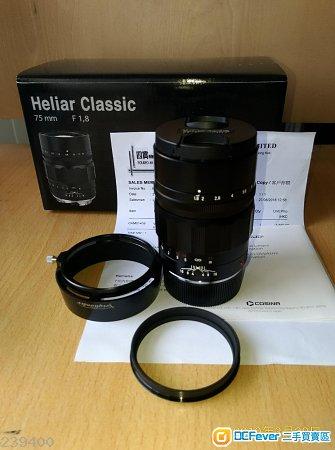 Voigtlander 75 mm F 1.8 Heliar 極新  $3,200