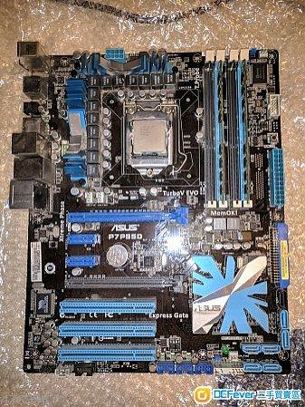 ASUS P7P55D 底板 + i5-750 CPU