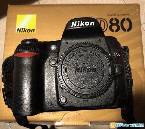 Nikon D80 連3粒原裝電+原裝直度