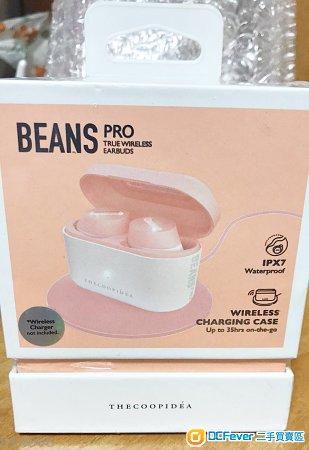 100% New - Thecoopidea Beans Pro THECOOPIDEA BEANS PRO 真・無線藍牙耳機 (粉紅色)