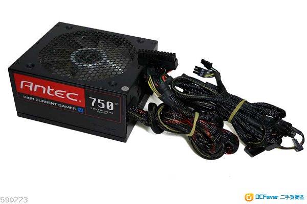 良好無塵新淨Antec HCG-750M 80+ Bronze 機箱火牛 - power supply 包試