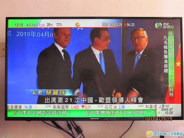 90%新 Skyworth 43吋 LED TV (LED-43E3000)