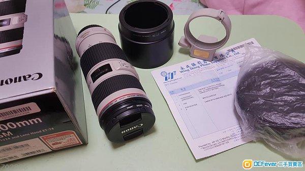 90%NEW 行貨 Canon EF 70-200mm f/4L IS USM Hoya UV + Tripod Mount