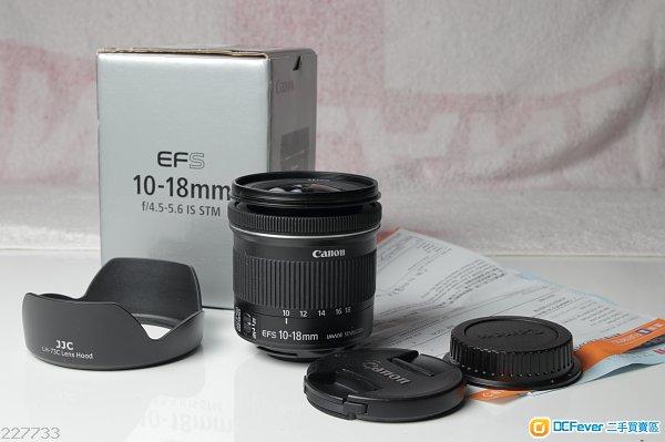 售 Canon 10-18mm f/4.5-5.6 IS STM 連Hood