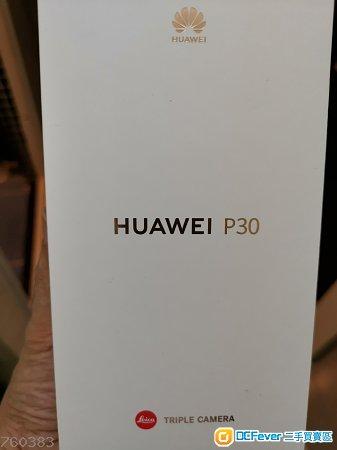 全新華為 p30,8+128gb天空鏡色只系開盒 check機不習慣細機想換 p30 pro大機天空之鏡色256gb.