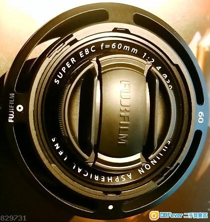 Fujifilm XF60mmF2.4R Marco (連金屬遮光罩)