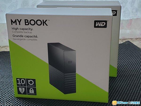 WD 10TB MY BOOK USB Harddisk 全新未開封