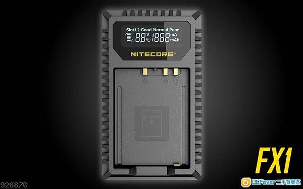(工商免運)Nitecore FX1 Fujifilm NP-W126 USB 雙位電池充電座