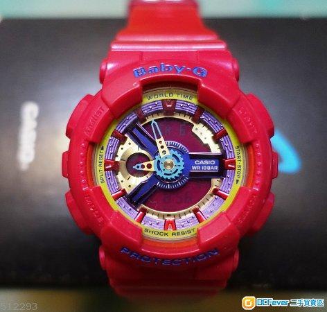 90%新 Casio Baby G Watch BA-112-4A Pink Resin 桃紅色 少女時代 手錶
