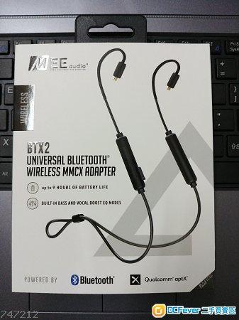 Mee audio bluetooth cable 第二代 MMCX插頭 支援aptX-LL $200