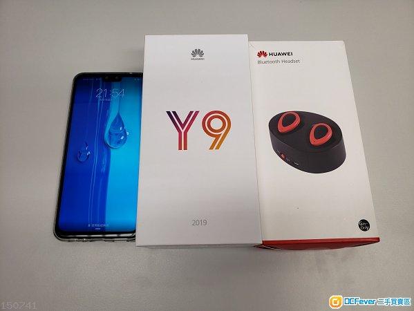 95%新 Huawei Y9 2019 + Huawei bluetooth headset