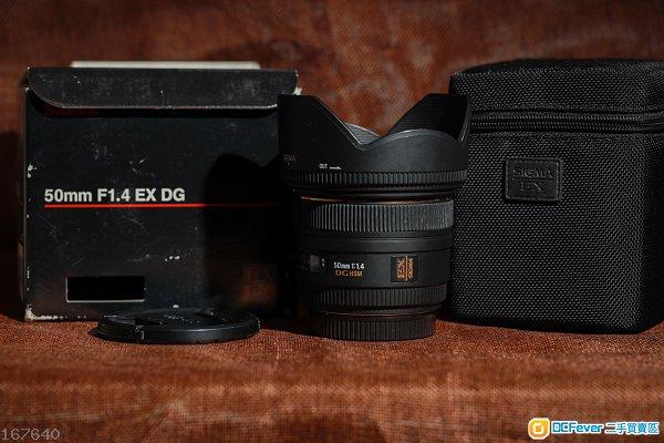 Sigma EX DG HSM 50mm f/1.4 (Canon EF mount)