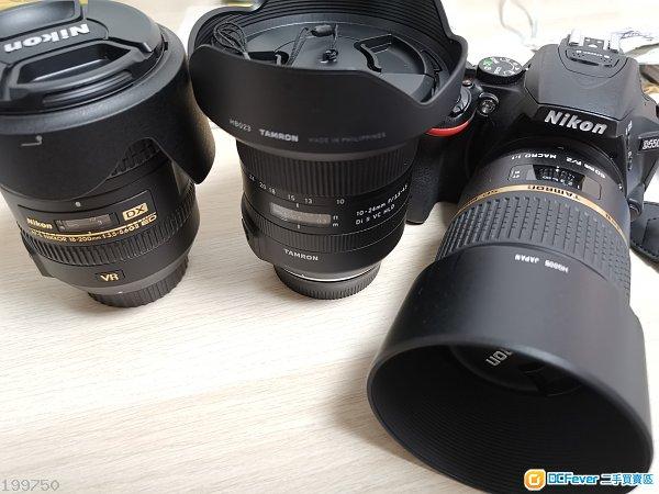 Nikon D5500 18-200mm Tamron 60mm 10-24mm