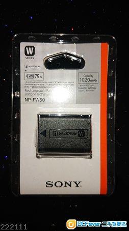 全新Sony 原廠電池NP-FW50!