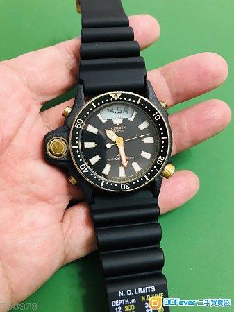 古董星晨初代PVD Citizen Aqualand電子深度計潛水手錶, 1986年1月