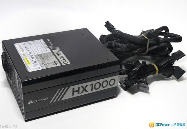 9成新專業級性能良好無塵無花Corsair HX1000 80 PLUS Platinum全無組火牛<無盒齊線>