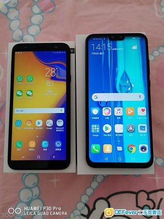 有95%新凈原廠香港行貨:Samsung三星J4+及Huawei華為Y9-2019全部2部電話一次過平售$2000元