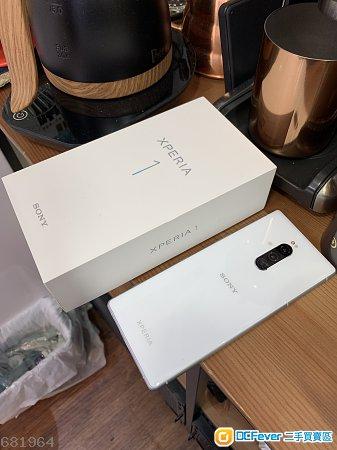 港行99.9%新 Xperia 1 白色 fullset 有盒有單